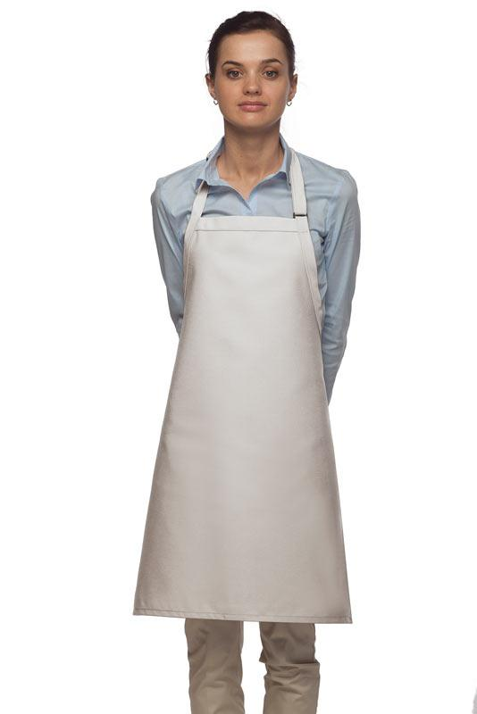 White No Pocket Adjustable Bib Apron