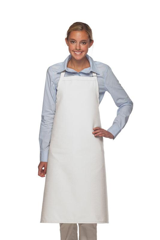 White No Pocket Adjustable XL Butcher Apron