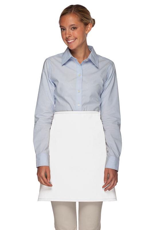 White No Pocket Half Bistro Apron