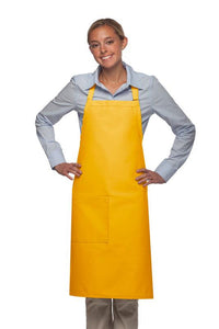 Yellow 1 Pocket Adjustable Butcher Apron