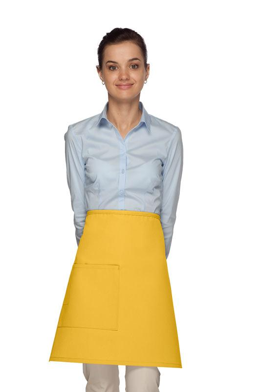 Yellow 1 Pocket Half Bistro Apron