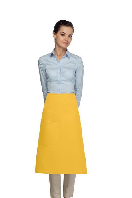 Yellow 1 Pocket Three Quarter Bistro Apron