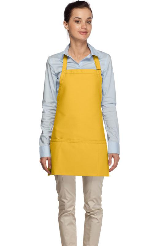 Yellow 3 Pocket Bib Apron