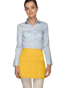 Yellow Rounded Waist Apron