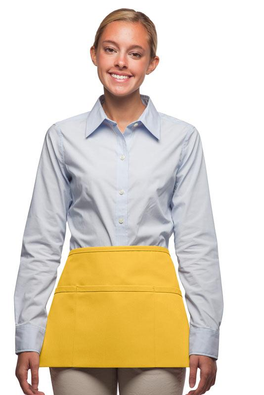 Yellow 3-Pocket Waist Apron