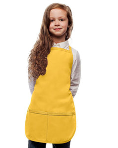 Yellow Kids 2 Pocket Bib Apron
