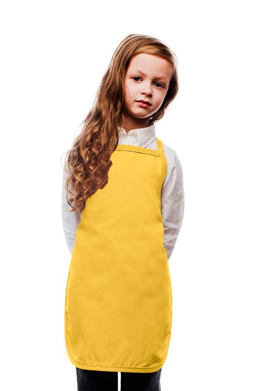 Yellow Kids No Pocket Bib Apron