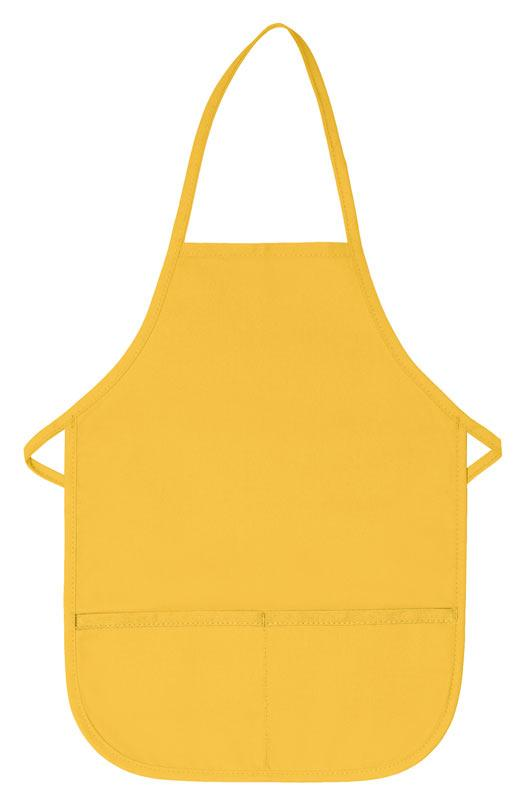 Yellow Kid's XL Bib Apron (2 Pockets)
