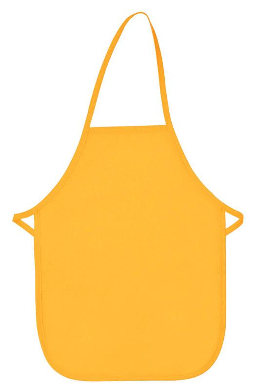 Yellow Kid's XL Bib Apron (No Pockets)