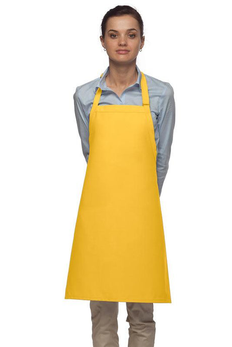 Yellow No Pocket Adjustable Bib Apron
