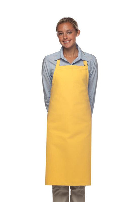 Yellow No Pocket Adjustable Butcher Apron