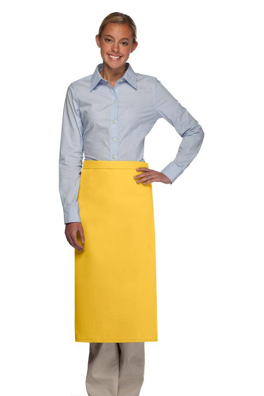 Yellow No Pocket Full Bistro Apron