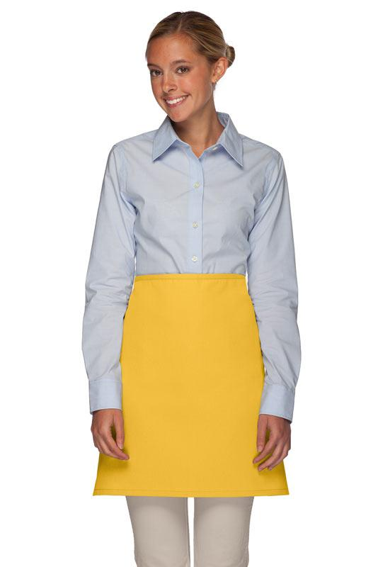 Yellow No Pocket Half Bistro Apron