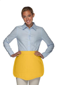 Yellow Scalloped Waist Apron