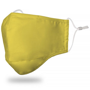 "Kids ""Solid"" Yellow Face Mask"
