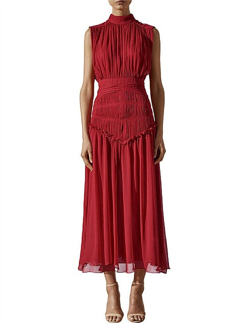 Clemence High Neck Midi Dress