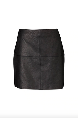 Carrie Leather Skirt