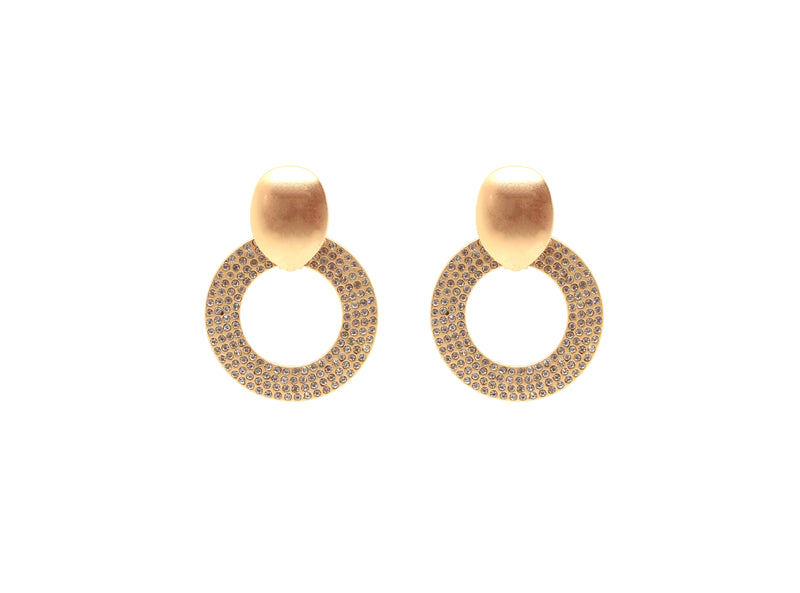 Jolie Crystal Hoops