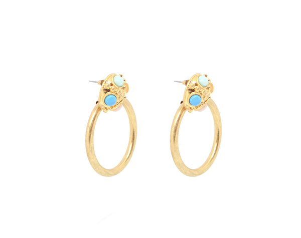 Isabella Statement Hoop Earrings