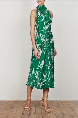 Ellis Scarf Neck Midi Dress
