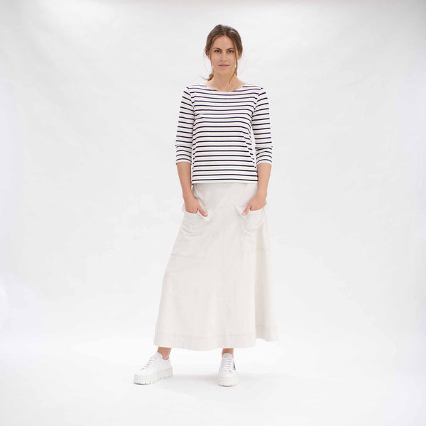 Relaxed Boat Neck - Artisan Stripe
