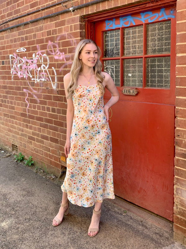 Avalon Dress - Peachy Posy