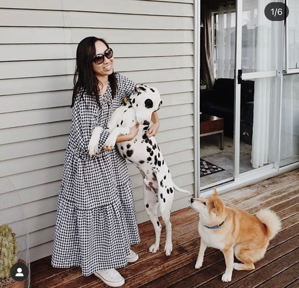 Tilly Maxi - B+W Gingham PREORDER