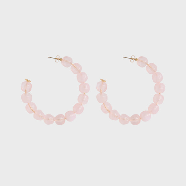 Sara Resin Hoops Pink