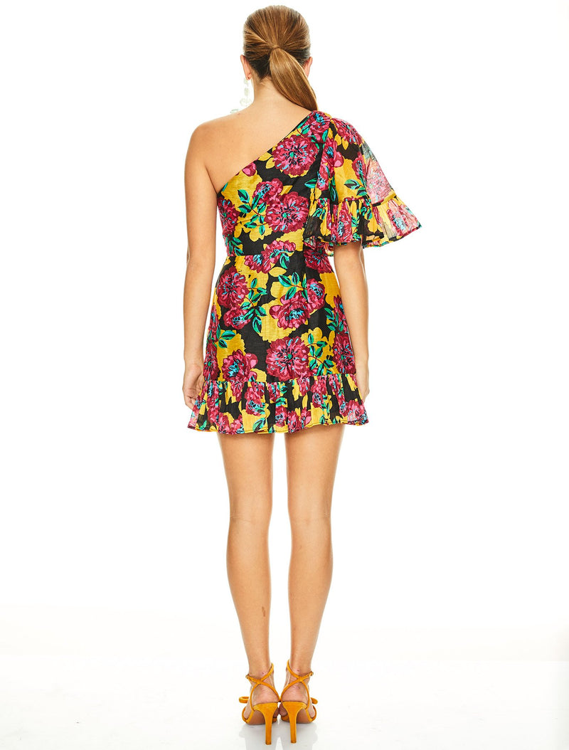 Barcelona Bloom Mini Dress