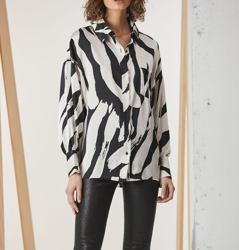 Cuffed Silk Shirt