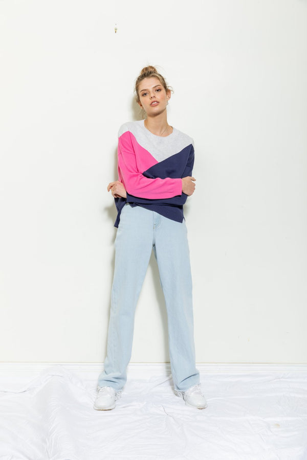 Gigi Colour Block Geo Knit