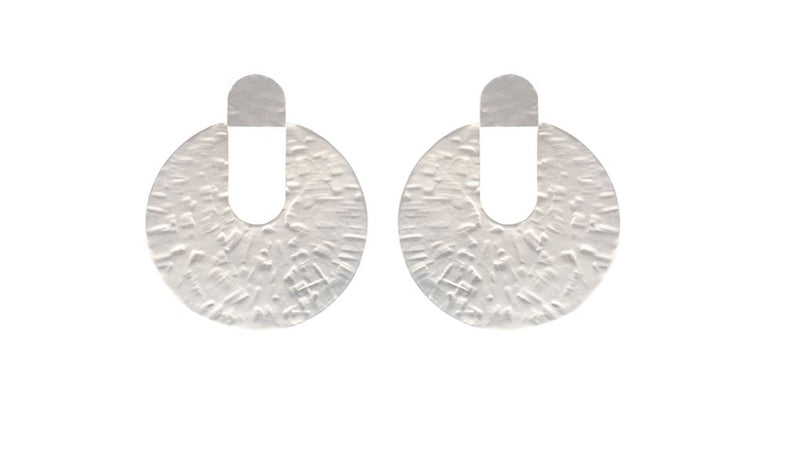 Lidia Hammered Disc Earrings