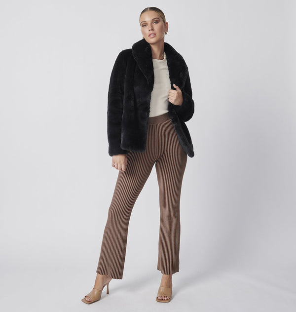Marni Faux Fur Jacket - Black