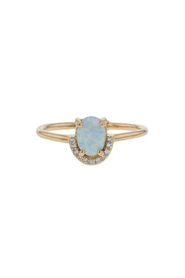 Opal Crystal Ring - Gold