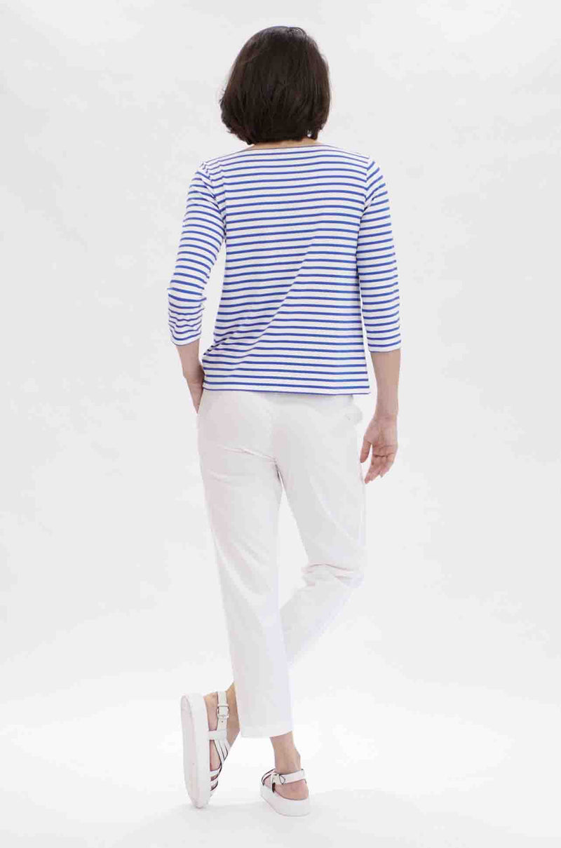 Relaxed Boatneck - Pacific White