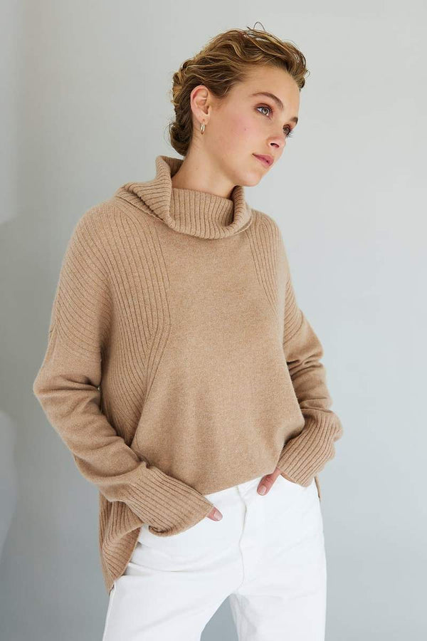 Mia Ribbed Roll Neck Sweater