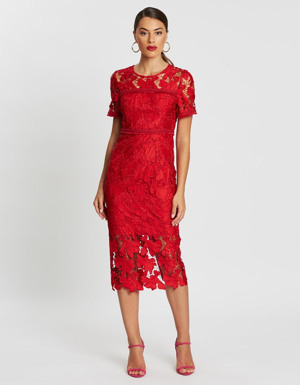 The Scarlet Letter Midi Dress