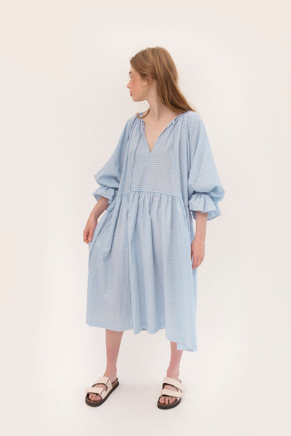 Tilly Maxi 2.0 - Blue Gingham