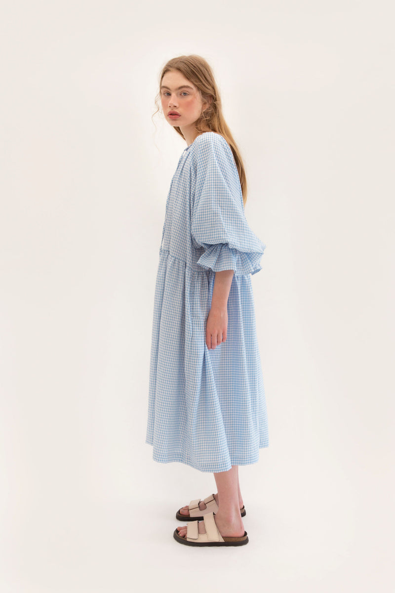 Tilly Maxi 2.0 - Blue Gingham - PREORDER