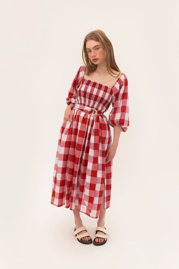 Ballerina Dress - Red Gingham