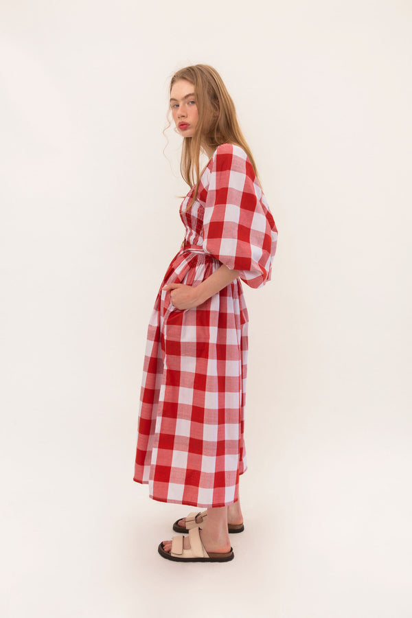 Ballerina Dress - Red Gingham - PREORDER