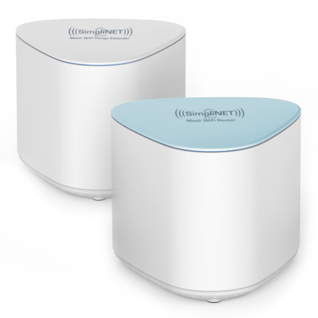 SimpliNET2 Mesh WiFi System with Smart Firewall 2-Pack