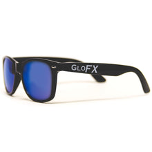 Load image into Gallery viewer, Diffraction Glasses - Black - Blue Mirror