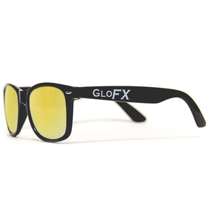 Diffraction Glasses - Black - Gold Mirror