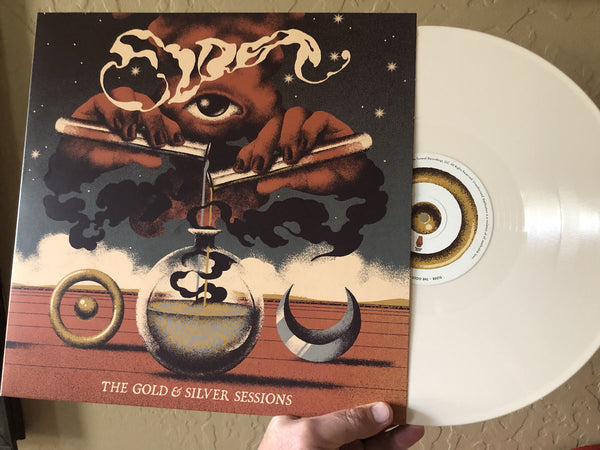 "US ORDERS:  ELDER ""The Gold & Silver Sessions"" Limited Bone White Vinyl LP"