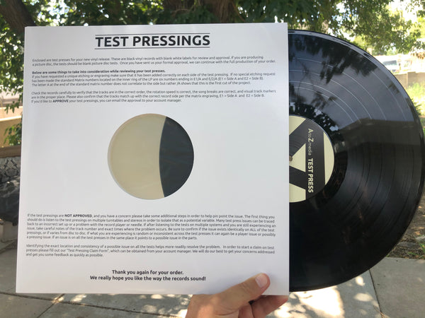 US ORDERS:  THE OBSESSED 'Live at Big Dipper' LIMITED TEST PRESSING LP
