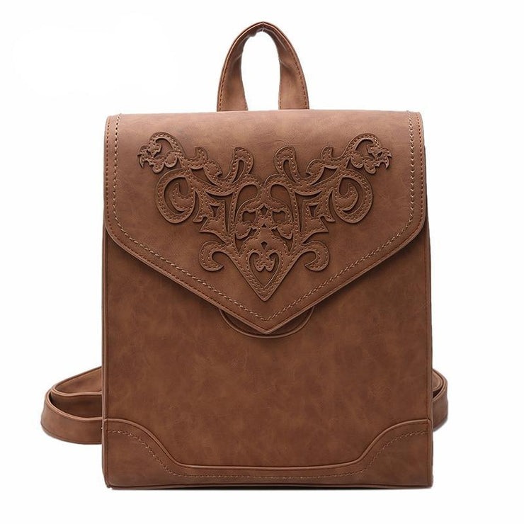 Floral Embossed Mochila by Kavard