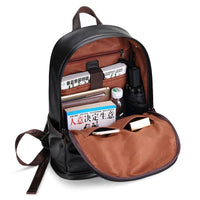 Stylish Leather Waterproof Backpack