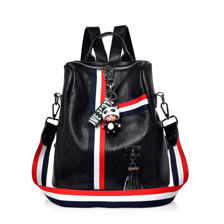 Leather Backpack with Ribbons   Tassels – Shopillar abe6b530fec11