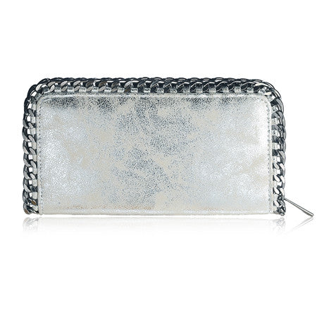 Chic Leather Chain Wallet